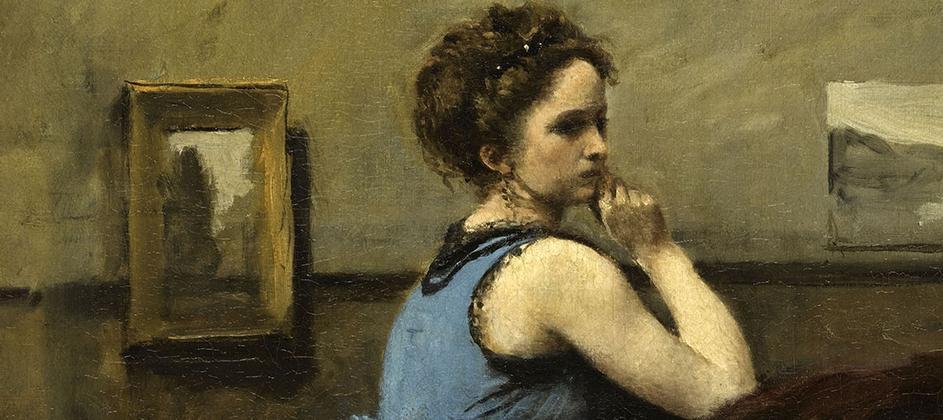 La femme en bleu par Esprit de France
