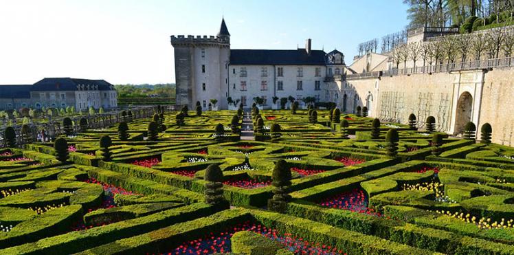 Le chateau et les jardins de Villandry, proche du Château de Gizeux